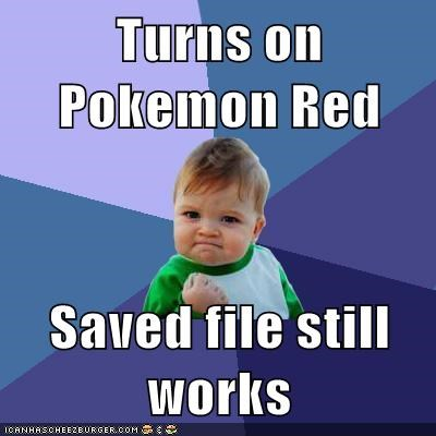 Pokémon save file success success kid - 6188158720