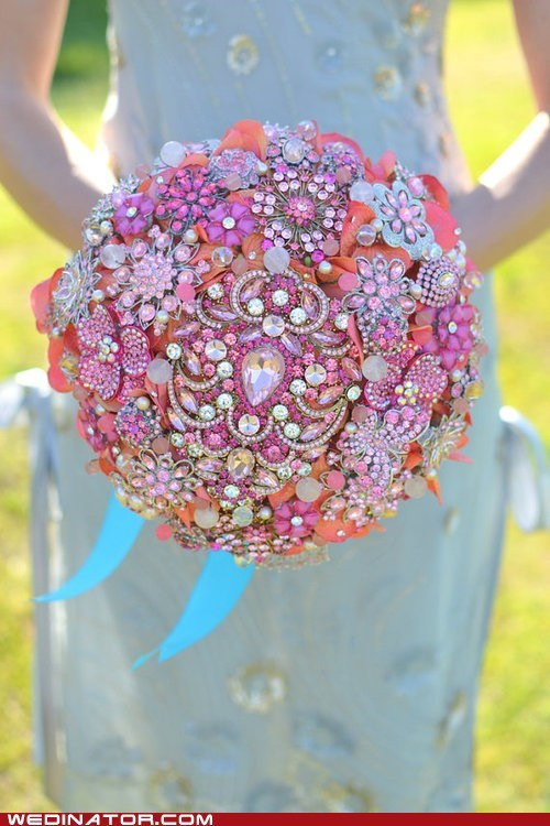 bouquets flowers funny wedding photos Hall of Fame jewels - 6188165376