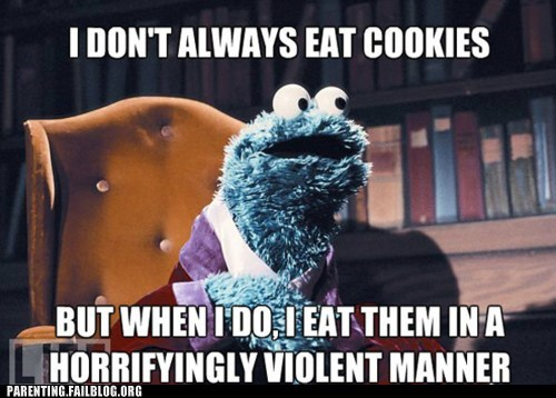 Cookie Monster dos equis Hall of Fame most interesting man in the world Sesame Street