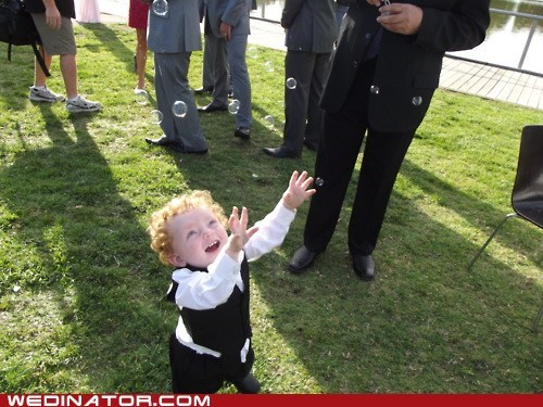 bubbles children funny wedding photos kids