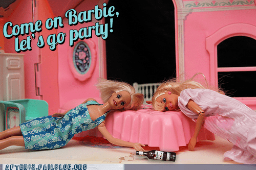 aqua,bacardi,Barbie,barbie doll,barbie girl,blackout,ken,passed out