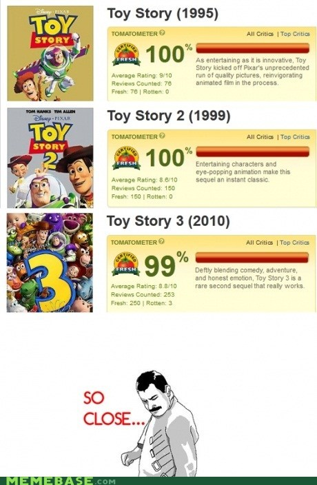 perfect,pixar,Rage Comics,toy story,trilogy