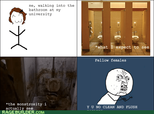 bathroom pooptimes Rage Comics Y U NO - 6188332032