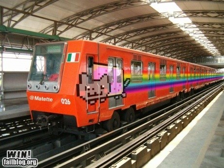 Nyan Cat,photoshop,train