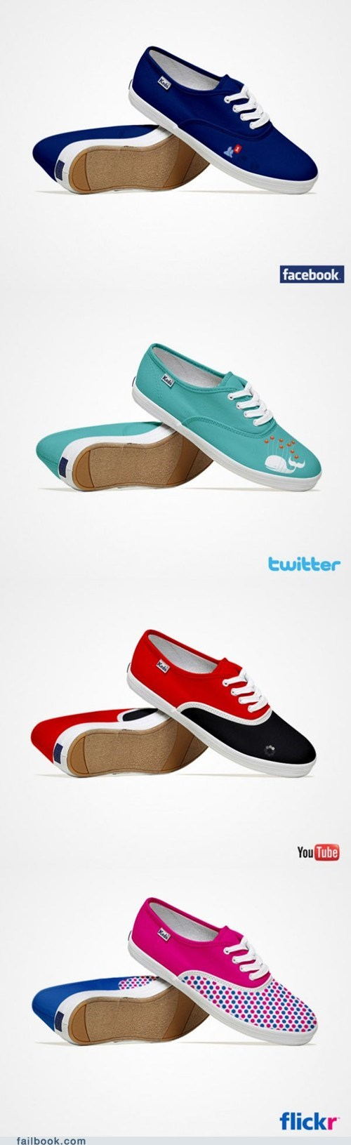 concept,facebook,fashion,flickr,shoes,social media,twitter,youtube