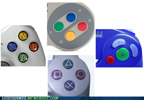 controllers,nintendo,playstation,the feels,x button,xbox