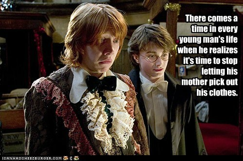 clothes,Daniel Radcliffe,embarrassing,growing up,Harry Potter,mother,Ron Weasley,rupert grint,young man