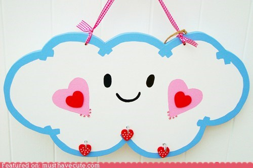 cloud decor face Painted wall hanging wood - 6188550400