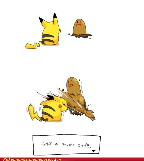 comic diglett diglett wednesday meme pikachu scratch - 6188561152