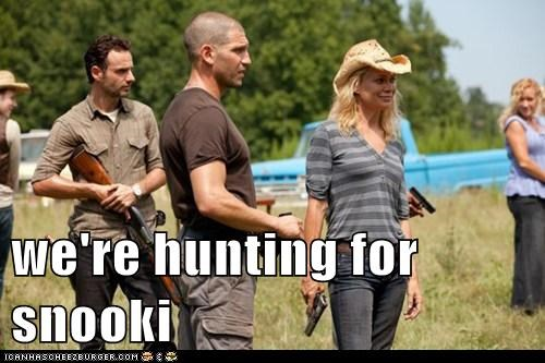 Andrew Lincoln guns hunting Jon Bernthal respect Rick Grimes shane walsh snooki The Walking Dead - 6188660992