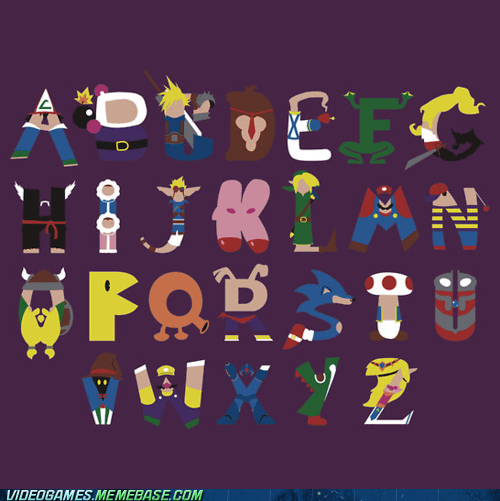 alphabet,awesome,final fantasy,gamers,Pokémon,the internets