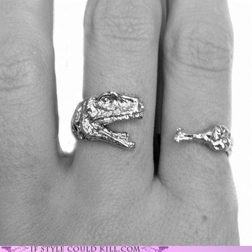 cool accessories dinosaurs meat ring of the day rings - 6188710144