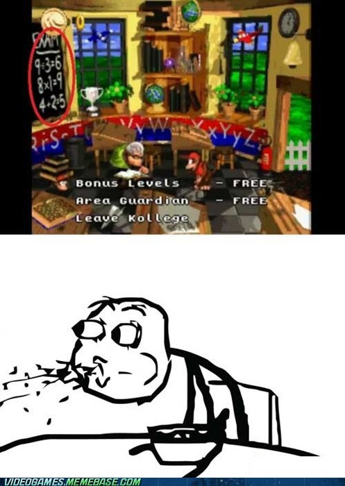 cereal guy,donkey kong,gameplay,math,snes