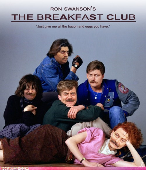 fake funny Movie Nick Offerman ron swanson shoop the breakfast club - 6188751360