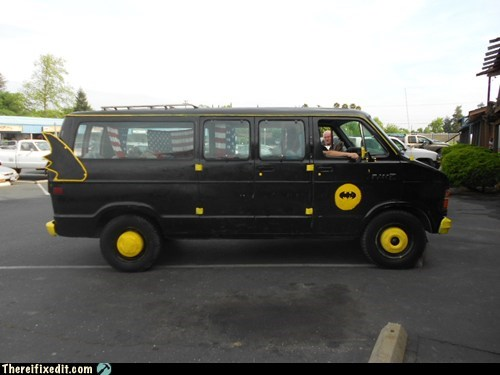 batman,batmobile,candy van,gotham city