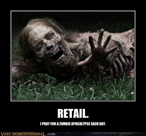 horrible zombies job retail Sad - 6189758464