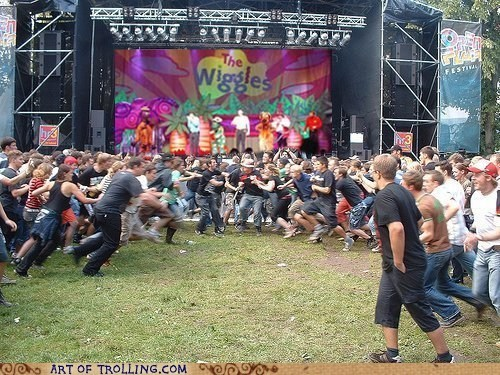 concert IRL Memes mosh pit Music the wiggles - 6189767680