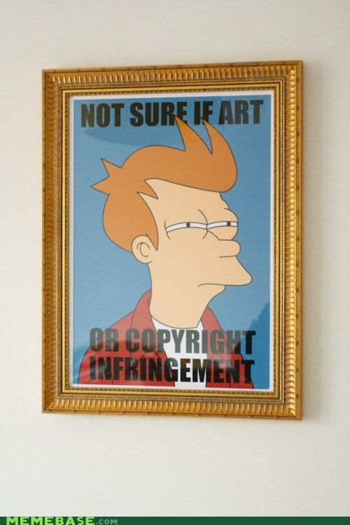 art cant tell if Copyright Infringement fry - 6190077952