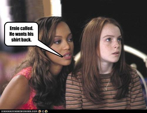 actor celeb funny lindsay lohan Tyra Banks - 6190245888
