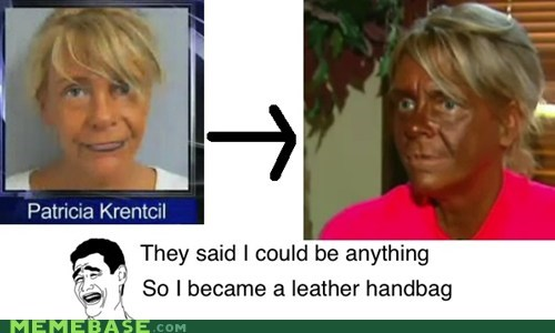 leather bag Memes tan they said i could be anything - 6190290688