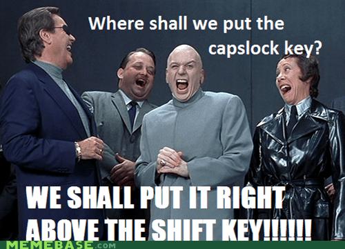 capslock evil Memes shift - 6190703360