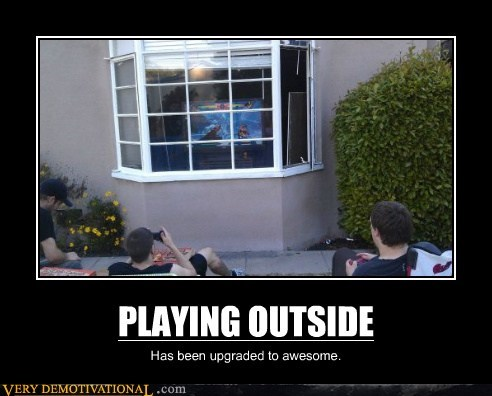 awesome hilarious outside playing video games - 6190714368