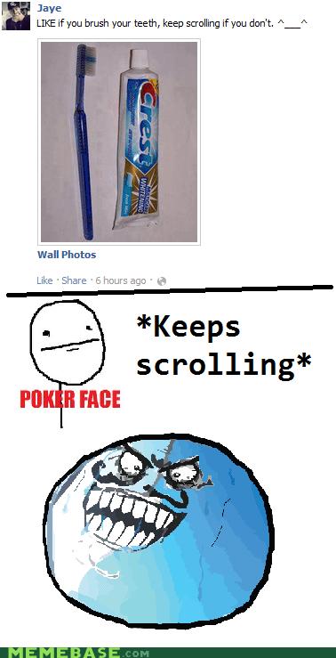 facebook i lied like Memes poker face - 6190719488