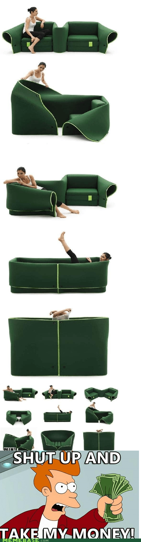 cool couch fry shut up and take my money - 6190922752