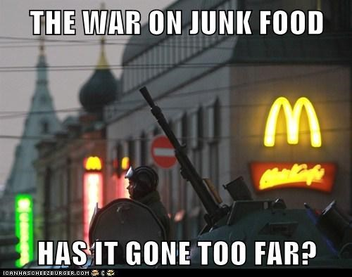 army,McDonald's,political pictures,soldiers,tanks