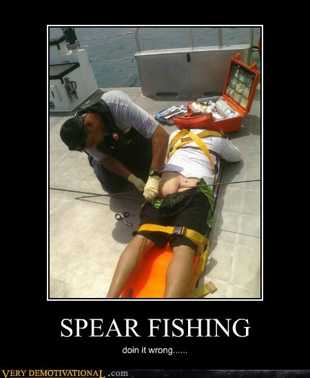 SPEAR FISHING doin it wrong......
