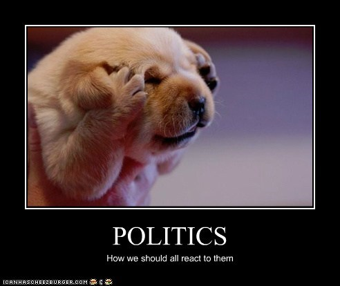 POLITICS How we should all react to them