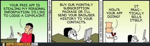 apps dilbert dogbert sells itself threats