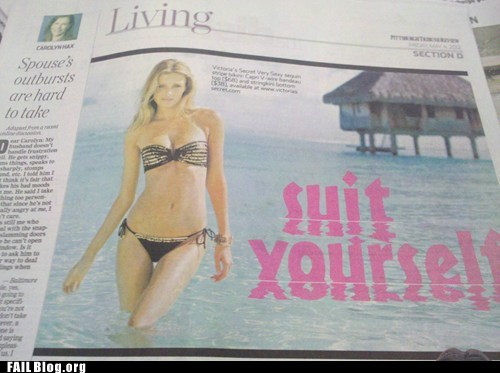 Ad bathing suit newspaper suit yourself - 6191504896