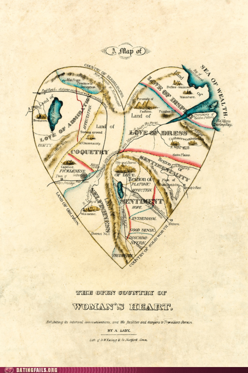 confused map of the heart woman hearts - 6191572480