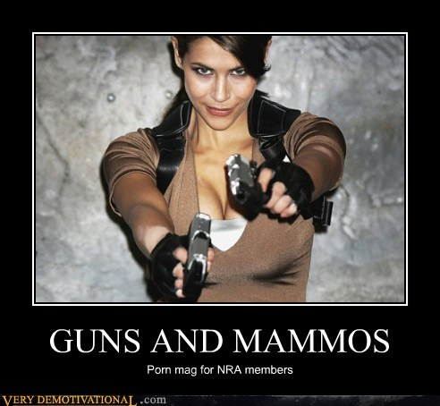 GUNS AND MAMMOS Porn mag for NRA members