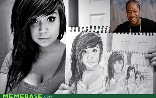 draw,emo,girl,paper,yo dawg
