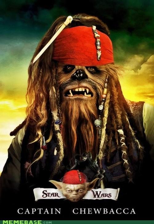 chewbacca Memes Pirates of the Caribbean star wars yoda - 6191725056