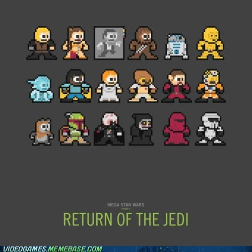 awesome,crossover,mega star wars,megaman,sprites,star wars