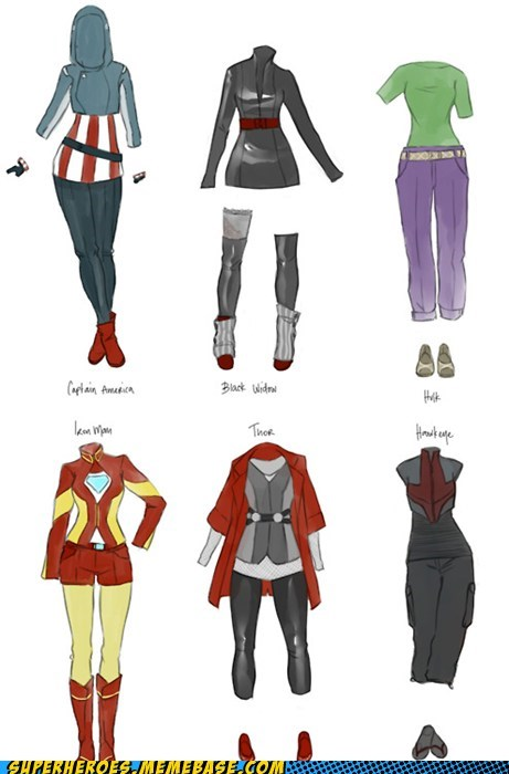 avenger Awesome Art clothes fashion Sexy Ladies - 6191745792