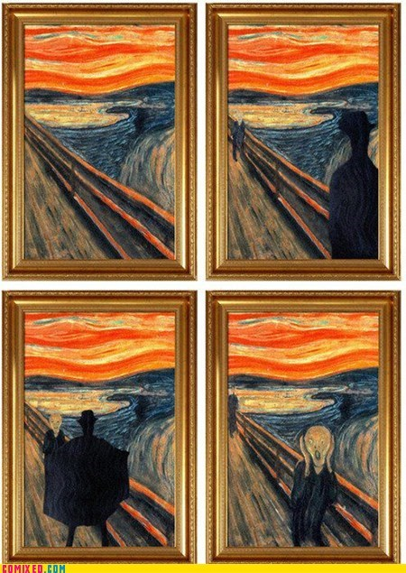 art flasher painting the internets The Scream - 6191790336