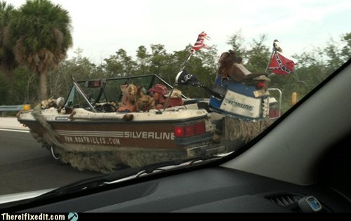 confederate deep south motorboat rednecks south