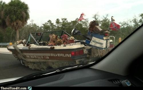 confederate deep south motorboat rednecks south - 6191796480