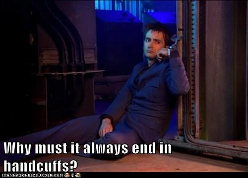 David Tennant,doctor who,fans,handcuffs,Sad,the doctor,trapped,why