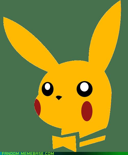 crossover,pikachu,playboy bunny