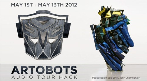 art,art hack,audio tour,john chamberlain,Nerd News,sculpture,transformers