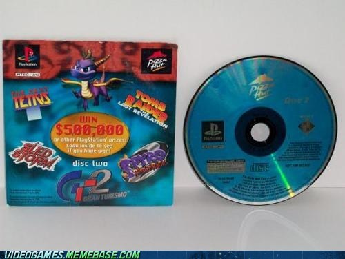 broke demo discs nostalgia pizza hut ps1 still have mine the feels