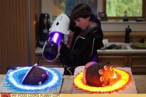 cake,glow,gun,impressive,lights,Portal