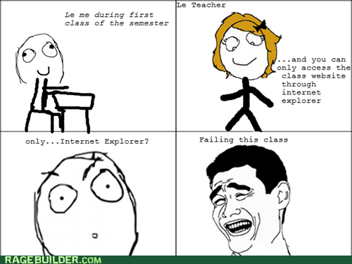 f that internet explorer Rage Comics truancy story - 6192236544