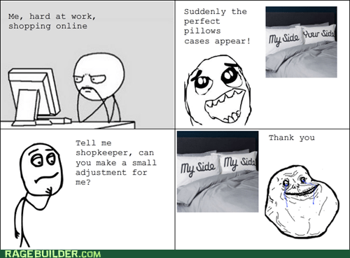 forever alone,my side,pillows,Rage Comics