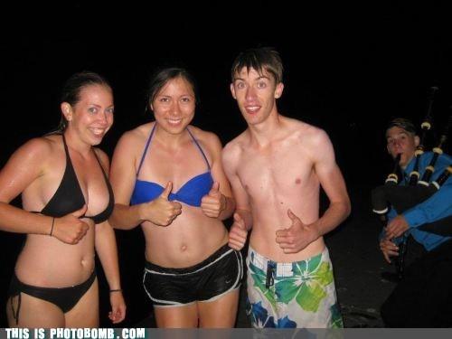 awesome bagpipes beach bikini night wtf